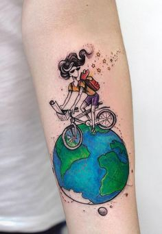 Awesome Travel Tattoo
