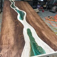 Check out our epoxy resin table selection for the very best in unique or custom, handmade pieces from our furniture shops Resin Furniture, Diy Furniture Projects, Custom Furniture, Tree Furniture, Furniture Redo, Wood Resin Table, Epoxy Resin Table, Wood Table, Fabrication Table
