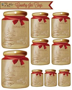 Country jar gift tags