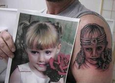 Bad face tattoo