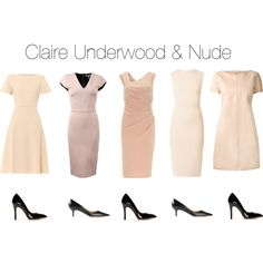 Claire Underwood & Nude by oliviapope411 on Polyvore featuring Carven, Goat, Freda, Amy Childs, Charlotte Olympia and Jimmy Choo