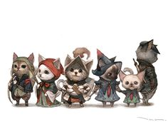 The army of wool by tahra cats kittens puss in boots armor clothes clothing fashion player character npc | Create your own roleplaying game material w/ RPG Bard: www.rpgbard.com | Writing inspiration for Dungeons and Dragons DND D&D Pathfinder PFRPG Warhammer 40k Star Wars Shadowrun Call of Cthulhu Lord of the Rings LoTR + d20 fantasy science fiction scifi horror design | Not Trusty Sword art: click artwork for source