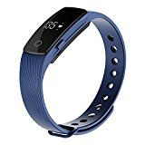 Witmood Bluetooth 4.0 Smart Bracelet Heart Rate Monitor Fitness Tracker Wristband Watch for IOS Android Smart Phones (Blue) - www.trolleytrends... - smart bracelet fitness tracker watches - amzn.to/2ijjZXZ Women's Running Gadgets - http://amzn.to/2iWkXcA