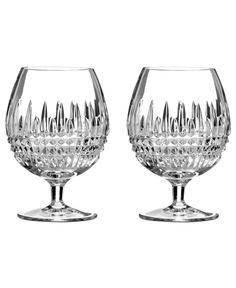 Waterford Barware, Lismore Diamond Brandy Glasses, Set of 2