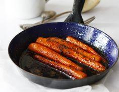 Smażona marchewka z miodem i tymiankiem