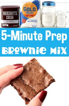 Brownie Recipes with Cocoa Powder - Easy Homemade Mix! Once you try this delicious brownie mix, you'll never go back to boxed mixes again! It's so quick and easy to put together, and SO delicious!! Go grab the recipe, and make some up this week!