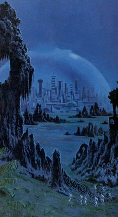DEAN ELLIS - art for Eight Against Utopia by Douglas R. Mason - 1970 Paperback Library
