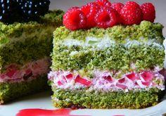 Zielone ciasto z bitą śmietaną - DoradcaSmaku.pl Avocado Toast, Breakfast, Food, Food Cakes, Food And Drinks, Baking, Breakfast Cafe, Essen, Yemek