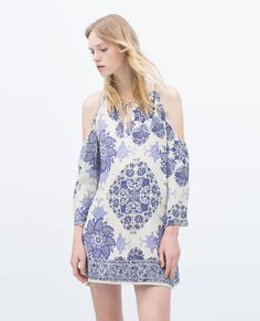 OFF-THE-SHOULDER PRINTED DRESS-View all-Dresses-WOMAN-SALE | ZARA United States