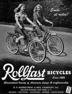 Rollfast Bicycles - Streamlined beauty of American design ~ vintage bike ad