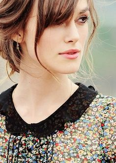 I'm in love with Keira Knightley's hair and face and everything else. I want her to be mine. (That's sickening almost)