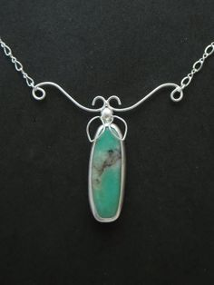 Sterling & Fine Silver with Chrysoprase.