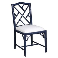 Britton Side Chair - Navy Lacquer | Dining | Seating | Selamat Designs | Interior Design Ideas