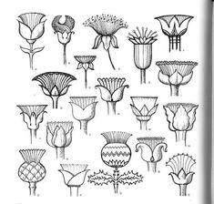 Doodle Patterns, Zentangle Patterns, Embroidery Patterns, Doodle Borders, Zentangles, Flower Doodles, Motif Floral, Green Art, Egyptian Art