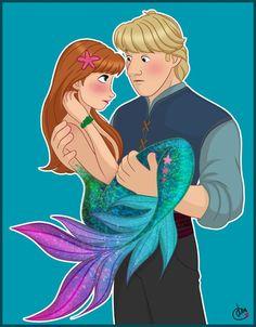 Frozen Mermaid, Mermaid Disney, Mermaid Art, Frozen Art, Disney Frozen Elsa, Frozen Anime, Anna Frozen, Disney Princesses As Mermaids, Anna E Elsa