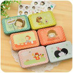 Stationery / cute / fresh / girl / Transparent PVC / diary decoration / sticker / iron box