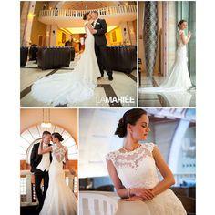 Real bride by La Mariée Budapest bridal #Landel dress by Pronovias #Exclusively at Lamariee salon #lace #lamarieesalon #Pronovias #wedding #weddinggown #weddingdress #esküvő #esküvőiruha #menyasszony...