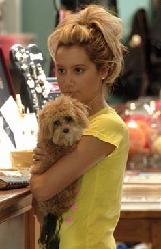 Ashley Tisdale - celebrities and their dogs