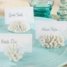 Place Card Holder Name Card Holder Frame White Coral Shape (3/set)