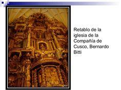 Bitti. Retablo para la iglesia de la compañia de Cuzco -