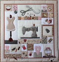 A very sophisticated but cute version of a quilter's sampler
