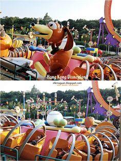 Cuisine Paradise | Singapore Food Blog | Recipes, Reviews And Travel: [Day 1] Exploring Hong Kong Disneyland - Part I plus Short Clip on Fireworks - Hong Kong Disneyland,  Slinky Dog Spin