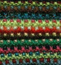 Mosaic Garter Slip 1 stitch purlways with yarn in back of work. Alternative to linen stitch? Slip Stitch Knitting, Knitting Stiches, Knitting Patterns Free, Knitting Yarn, Crochet Stitches, Hand Knitting, Stitch Patterns, Knit Crochet, Colors