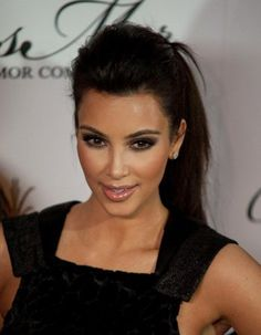high ponytail with quiff? or without? soft but dark smoky eye make-up? Option 1