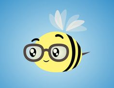 I like the idea of a bunch of bees with different characters (glasses, crown, sad, etc.)