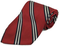 80c04e44fc0b Brooks Brothers Makers 100% Silk Tie Mens Red Striped Necktie Men Size 59L  3.25W #BrooksBrothers #NeckTie