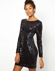 Motel Gabby Body-Conscious Dress In Sequin