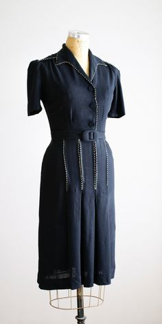1930's/40's Rayon Dress