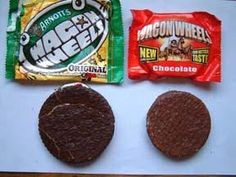 Wagon Wheels then and now - See they were bigger!!!