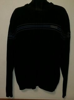 835343a2fb56 Harley-Davidson Motorcycles Black   Blue Knit Sweater Men s Size XX-Large  EUC