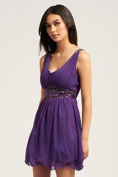 Purple-Party-Dress best party dresses, junior party dresses, women's f Best Party Dresses, Junior Party Dresses, Dress Syndrome, Casual Dresses, Fashion Dresses, Women's Fashion, Purple Party Dress, Funny Dresses, Grad Dresses Short