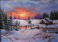 Dream Pictures, Winter Pictures, Pictures To Paint, Watercolor Projects, Action Painting, Winter Scenery, Call Art, Winter Art, Country Art
