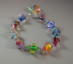 Multicolor Slice Furnace Glass Cane glass Art by redrosejewelry, $38.00