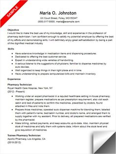 11 pharmacy technician resume sample riez sample resumes - Resume For Pharmacy Technician