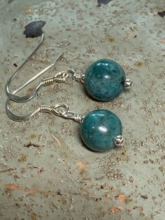 Beautiful Turquoise and sterling silver earrings FREE UK POSTAGE £12.50 Beautiful Gifts, Turquoise Earrings, Free Uk, Organza Bags, Silver Beads, Gifts For Friends, Sterling Silver Earrings, Natural Gemstones, Jewellery