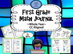 "SAVE 28% on this First Grade Math Journal is:*aligned to common core standards*includes vocabulary pages at the beginning of each of the 4 mathematical strands for students to refer to *includes a kid-friendly ""I Can"" statement at the bottom of each page for student's to check off as they complete*designed for high engagement with interactive hands on activities for more concrete mathematical practiceA math journal enhances mathematical ..."