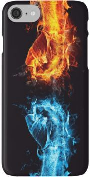 Fire water fist iPhone Case & Cover by Nuijten