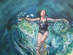 Cruciform in water.    Gillian Marklew