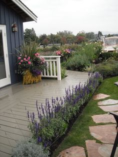 Lavender garden ~ traditional landscape by Glenna Partridge Garden Design