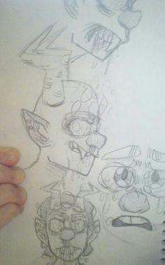 Vampire Sketches by:@rainb0wskittles (DrawnMasterpiece) DeviantART.com