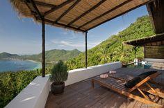 Tropische Deck privater Swimmingpool