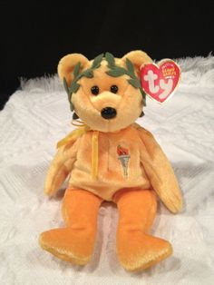86875031a7a Ty VICTORY the Olympics Bear Beanie Baby ~ TY Store Exclusive ~ MINT ~  RETIRED