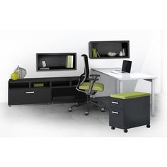Enrich your office with style and practicality with the Mayline e5 furniture Typicals set. This office furniture can be configured to fit any of your work space needs.