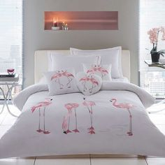 Flamingo Duvet Cover & Oxford Pillowcase Set