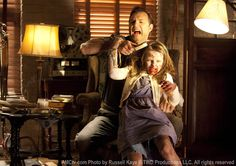 Governor and Daughter Penny on The Walking Dead