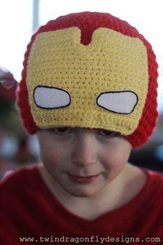 Resultado de imagen para gorros tejidos de super heroes